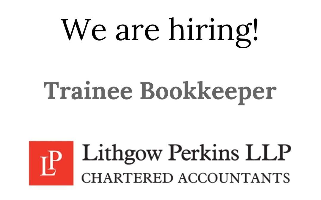 Job vacancy: Trainee Bookkeeper, Harrogate